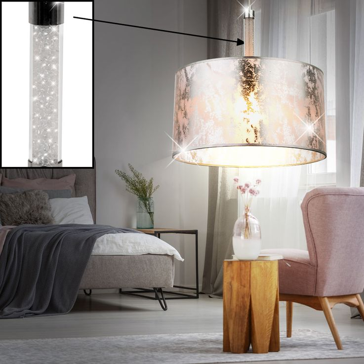 Design Pendulum light with textile lampshade AMY II – Bild 3
