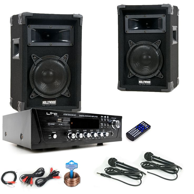 PA Party Musikanlage Boxen Verstärker USB MP3 SD Bluetooth Funkmikrofon DJ-Karaoke King 2 – Bild 1