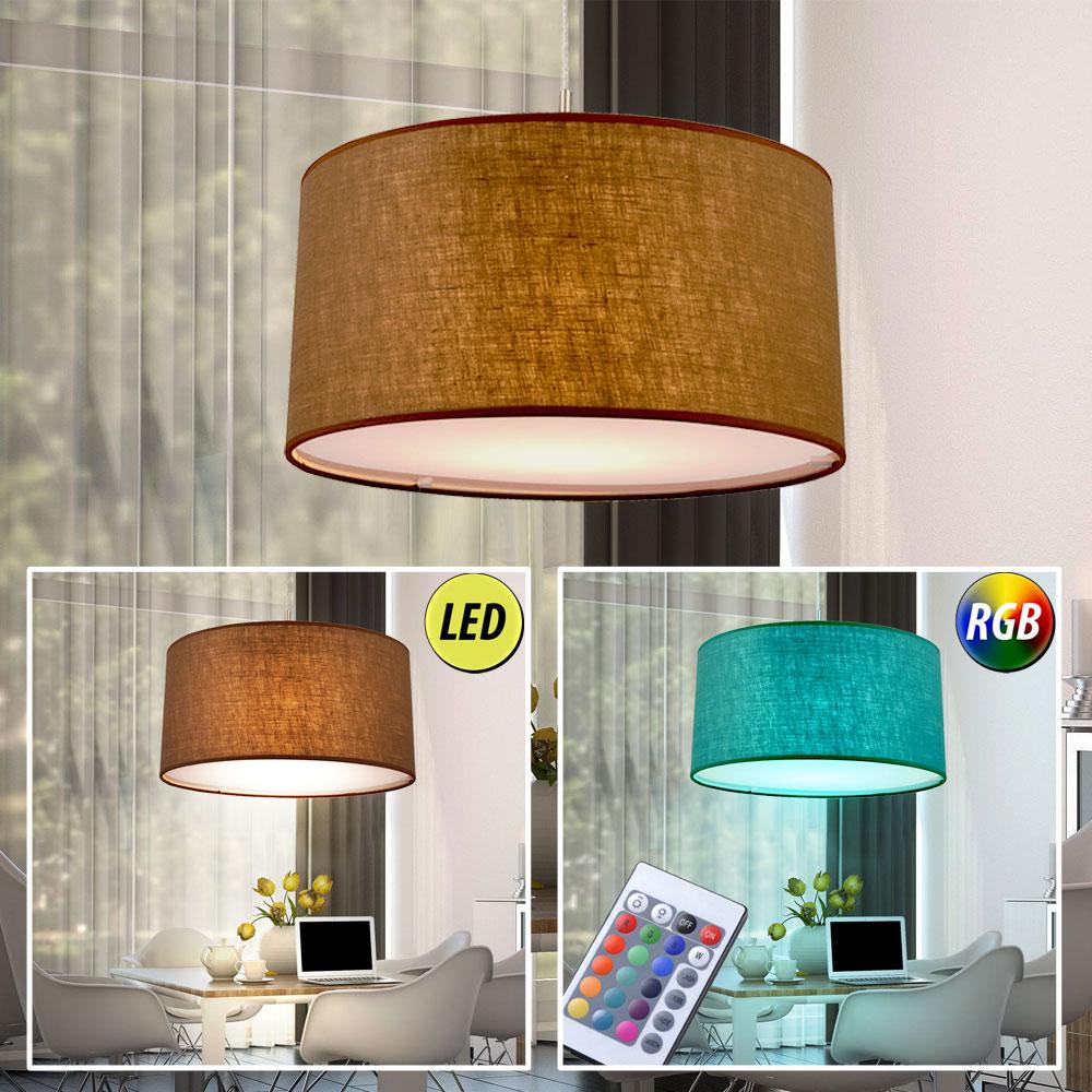 led tisch steh lampen textil rgb fernbedienung decken wand h nge big light ebay. Black Bedroom Furniture Sets. Home Design Ideas