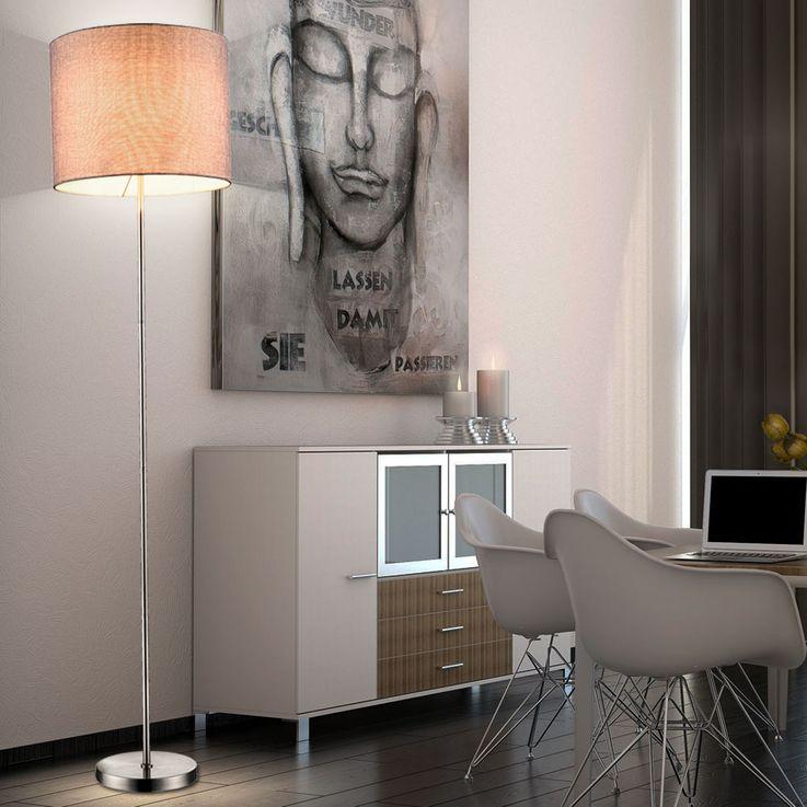 Luminaire à DEL RVB en textile gris pour votre espace de vie – Bild 4