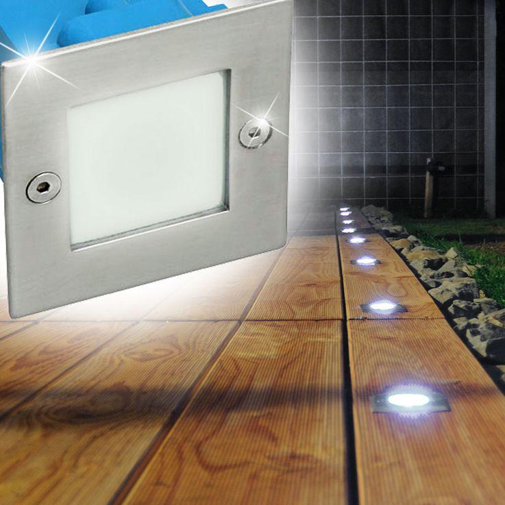 LED Wand Einbau Leuchte Außen Beleuchtung Tritt Stufen Treppen Lampe Kanlux 26461 – Bild 11