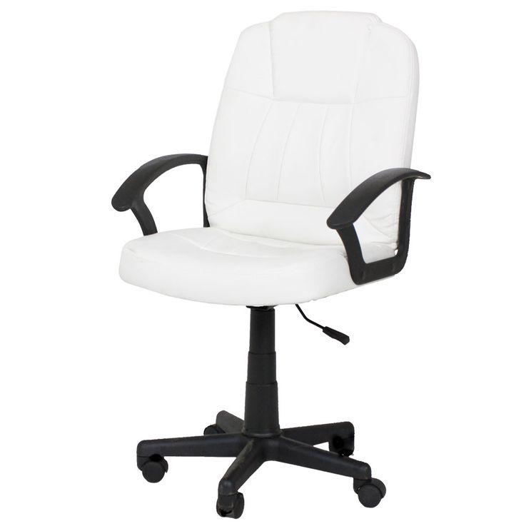 Bureau de bureau chaise pivotante assise de rembourrage accoudoirs roues réglables en hauteur crème blanc Harms 304050 – Bild 1