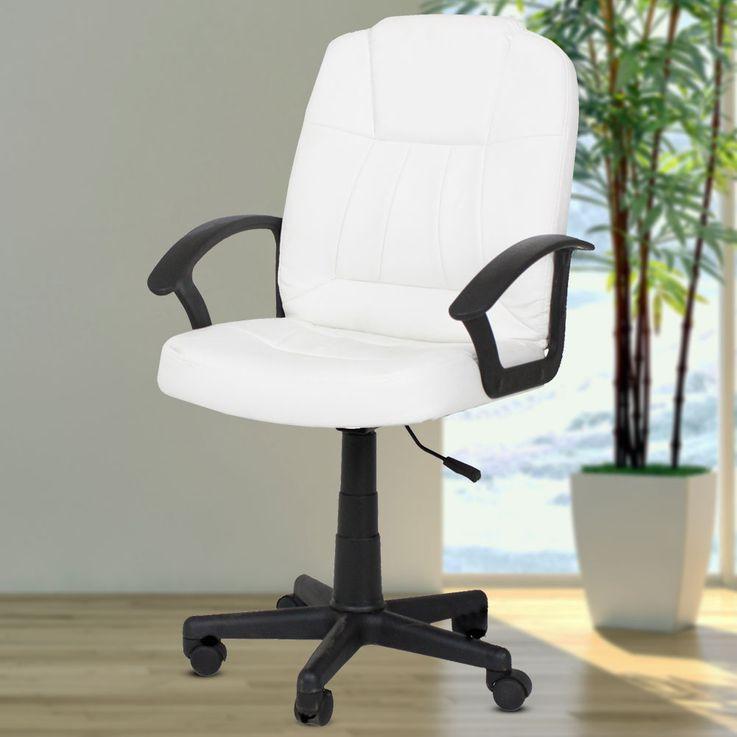 Design office swivel chair upholstery seat armrests height adjustable castors cream white Harms 304050 – Bild 2