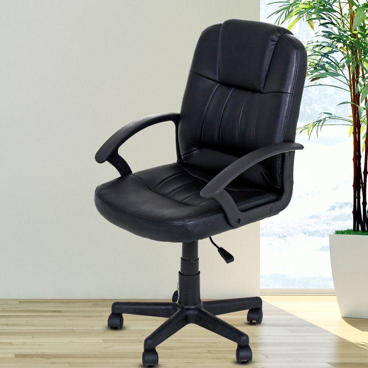 Chaise pivotante pour bureau d'études, accoudoirs pour sièges d'ameublement, roulettes réglables en hauteur noir Harms 304051 – Bild 2