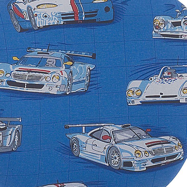 Chambre pour enfants chaise pivotante roues tissu bleu voitures de course véhicules coussin de siège pour garçon Harms 307048 – Bild 3