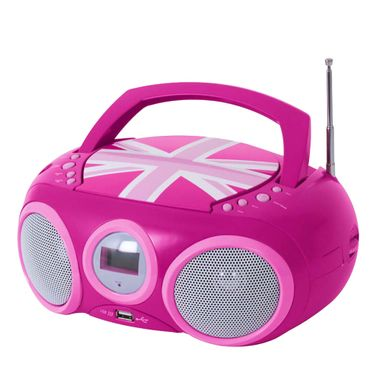 CD Player Stereo Radio USB System Girls Children's room in set inclsive Hello Kitty stickers – Bild 4