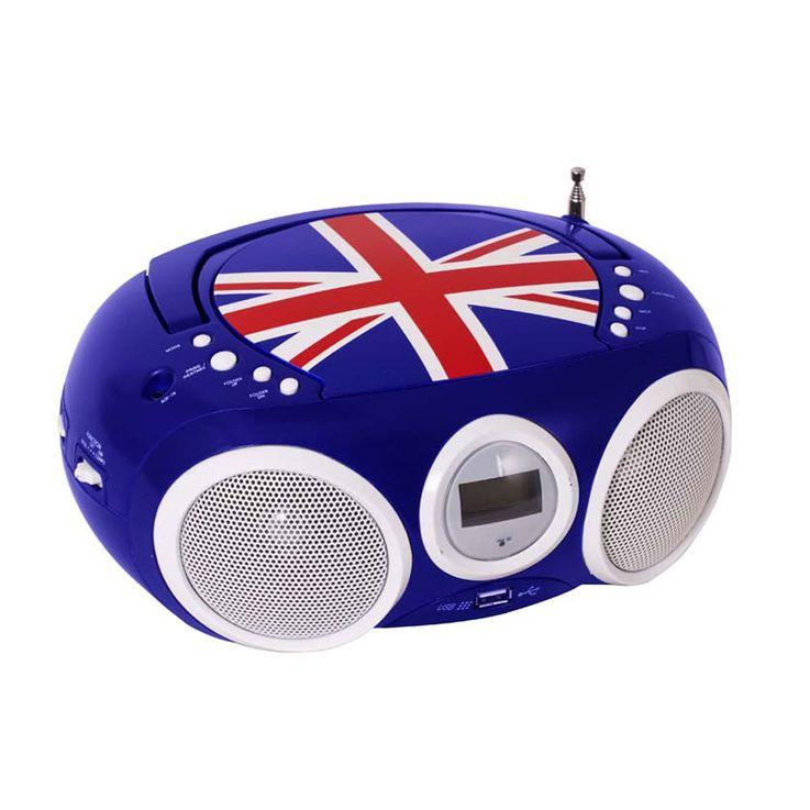 Design Lecteur CD Radio stéréo Système USB Garçons Salle pour les enfants Musique en jeu, y compris l'autocollant Smiley – Bild 5