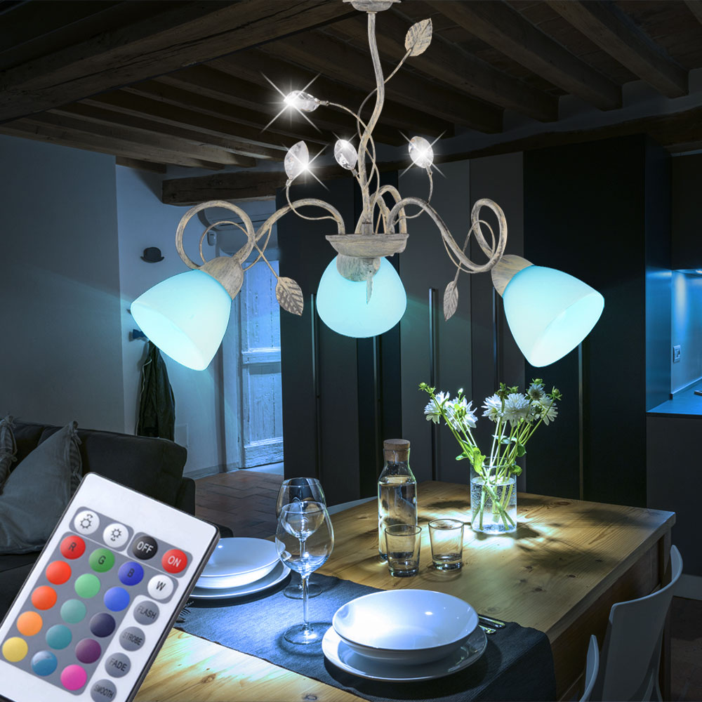 rgb led decken h ngelampe schlafzimmer fernbedienung farbwechsel pendelstrahler ebay. Black Bedroom Furniture Sets. Home Design Ideas