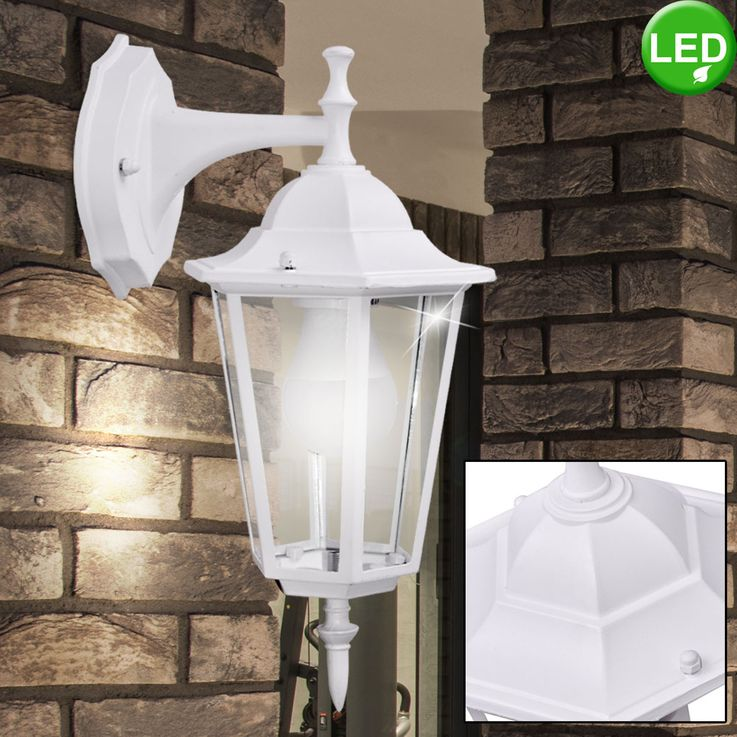 Outdoor LED wall light made of aluminum and glass white vtac7069 – Bild 2