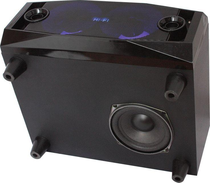 Mobile Lautsprecherbox Karaoke Anlage Bluetooth USB MP3 inklusive Funkmikrofonsystem – Bild 3