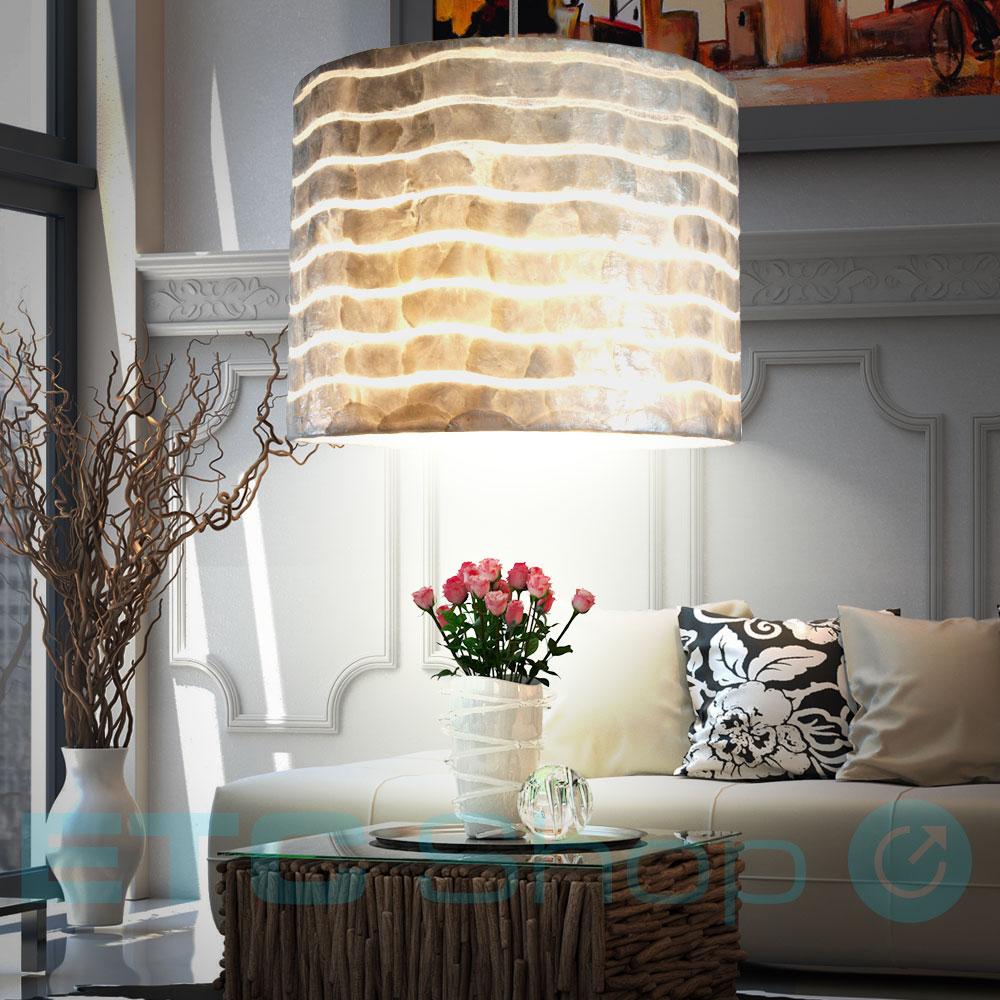 design pendel decken lampe wohnzimmer h nge beleuchtung muschel leuchte perlmutt 9007371352968. Black Bedroom Furniture Sets. Home Design Ideas