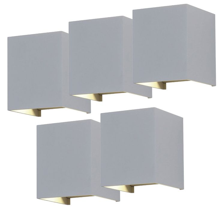 Set of 5 LED wall lights for your yard to adjust VT-759G – Bild 1