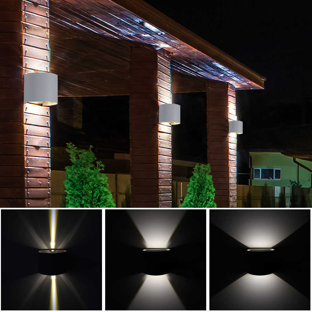 5x led au en wand lampen garten effekt up down leuchten. Black Bedroom Furniture Sets. Home Design Ideas
