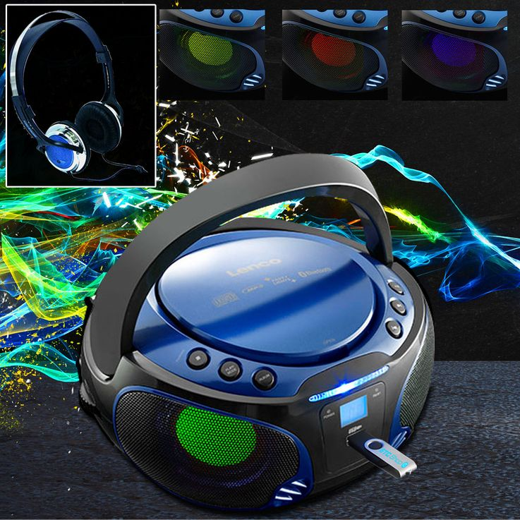 Stereo with CD player and lighting effect as well as headphones – Bild 2