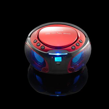 Music Party Audio System USB Bluetooth Boombox CD Player MP3 color changer in set including headphones – Bild 5