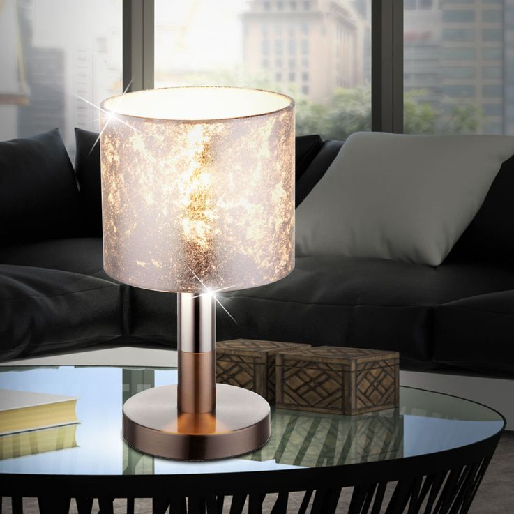 Design RGB LED table lamp with textile lamp shade AMY – Bild 3