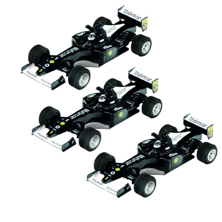 Set of 3 Formularacer 1:32 Racing Cars McTrack Formulasound black – Bild 1