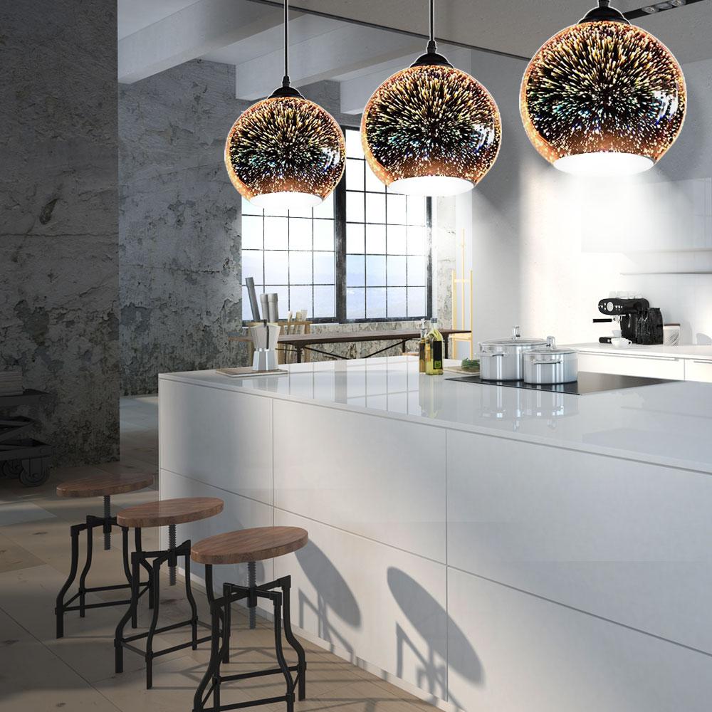 3er set design h ngeleuchten 3d effekt k chen beleuchtung. Black Bedroom Furniture Sets. Home Design Ideas