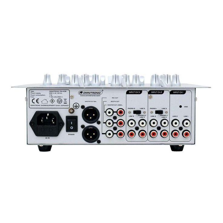 OMNITRONIC PM-408 DJ-Mixer 10006818 – Bild 3