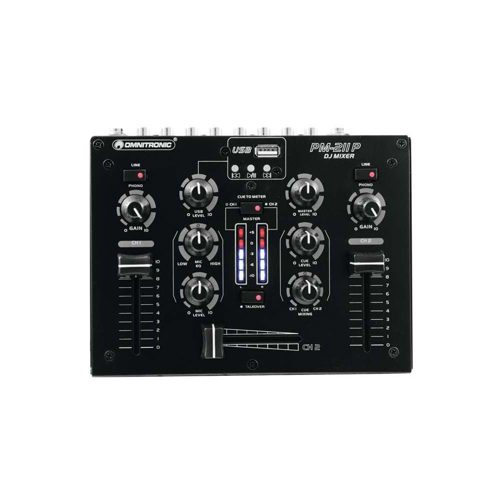 OMNITRONIC PM-211P DJ-Mixer mit Player – Bild 2