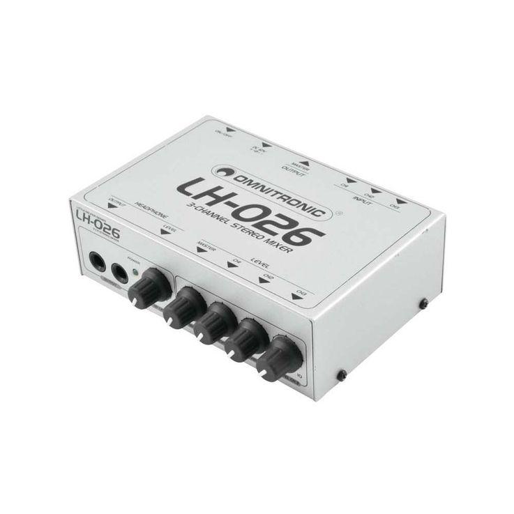 OMNITRONIC LH-026 3-Kanal-Stereo-Mixer 10355026 – Bild 2