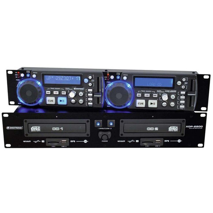 OMNITRONIC XDP-2800 Dual-CD-/MP3-Player – Bild 1