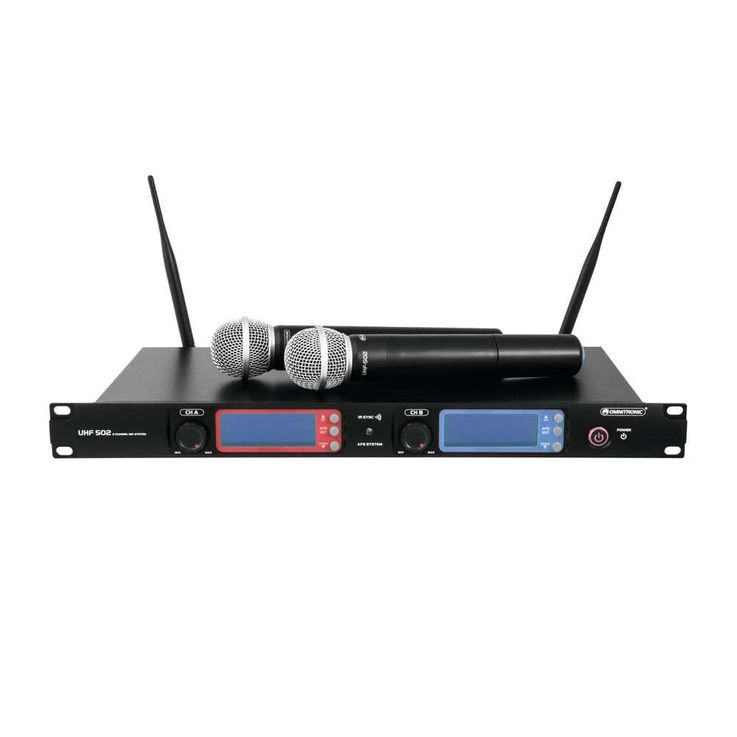 OMNITRONIC UHF-502 2-Kanal-Funkmikrofonsystem 863-865 MHz – Bild 1