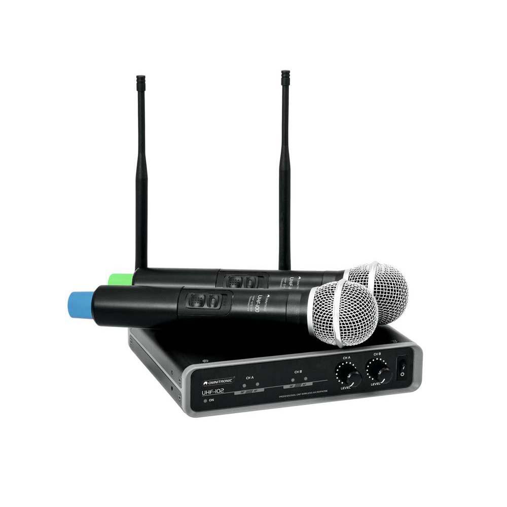 OMNITRONIC UHF-102 Funkmikrofon-System 830.3/863.8MHz