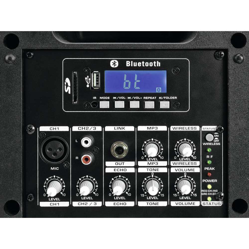 40W Mobile Musikanlage mit USB/SD und UHF-Funkempfänger – Bild 4