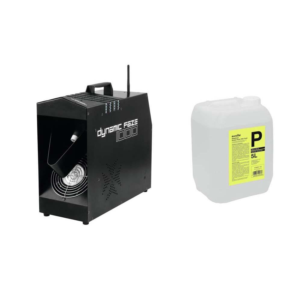 EUROLITE Set Dynamic Faze 1000 + Smoke Fluid -P2D- 5l 20000080