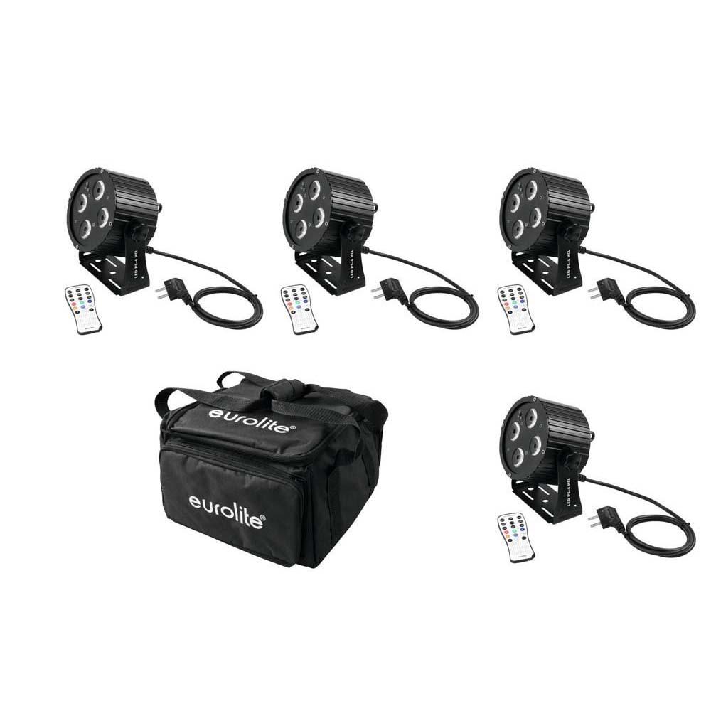 EUROLITE Set 4x LED PS-4 HCL Spot + SB-4 Soft-Bag 20000115