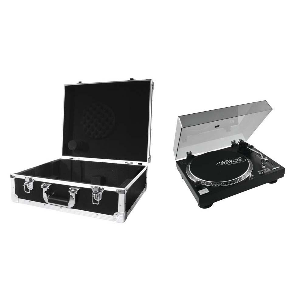 OMNITRONIC Set DD-2520 USB-Plattenspieler sw + Case schwarz -S- 20000304