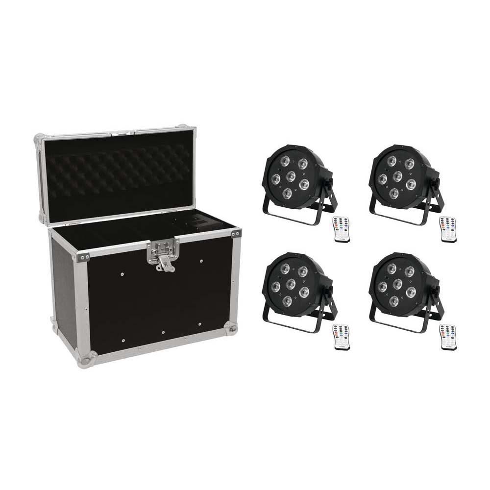EUROLITE Set 4x LED SLS-603 + Case EC-SL4M Größe M 20000306
