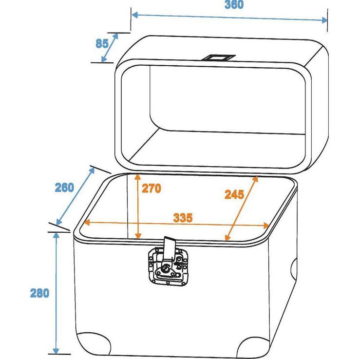 ROADINGER Platten-Case ALU 75/25, abgerundet, acryl 30110038 – Bild 2