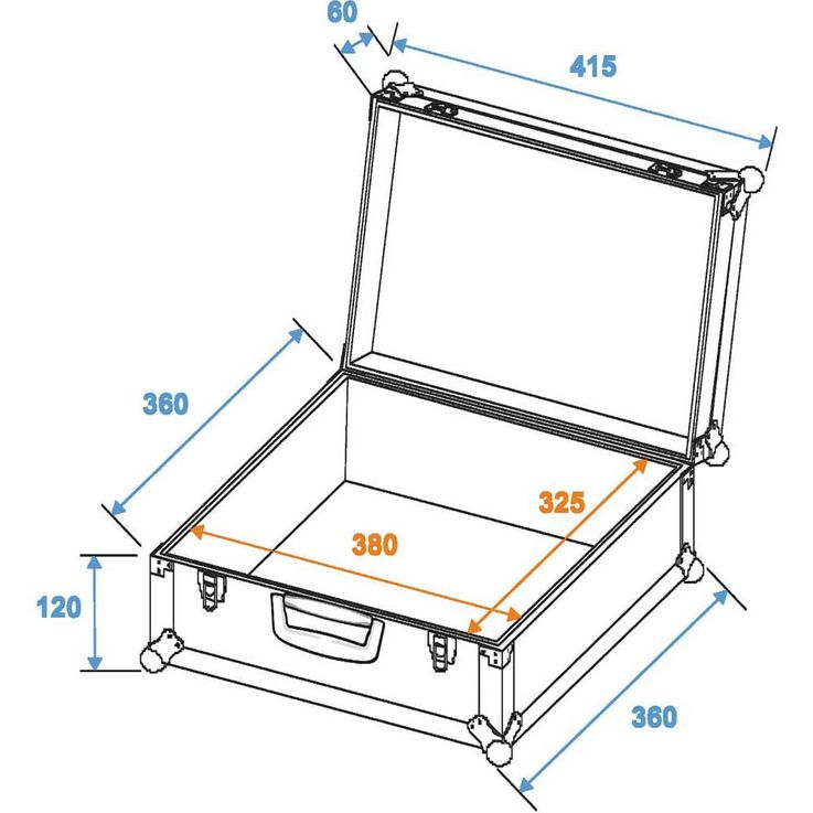 ROADINGER Universal-Koffer-Case FOAM GR-3 schwarz – Bild 2