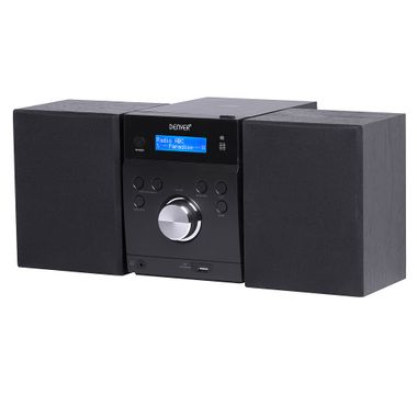 CD Player Timer Stereo Music System Speakers Equalizer USB CD Remote Control Denver MDA-240 – Bild 1