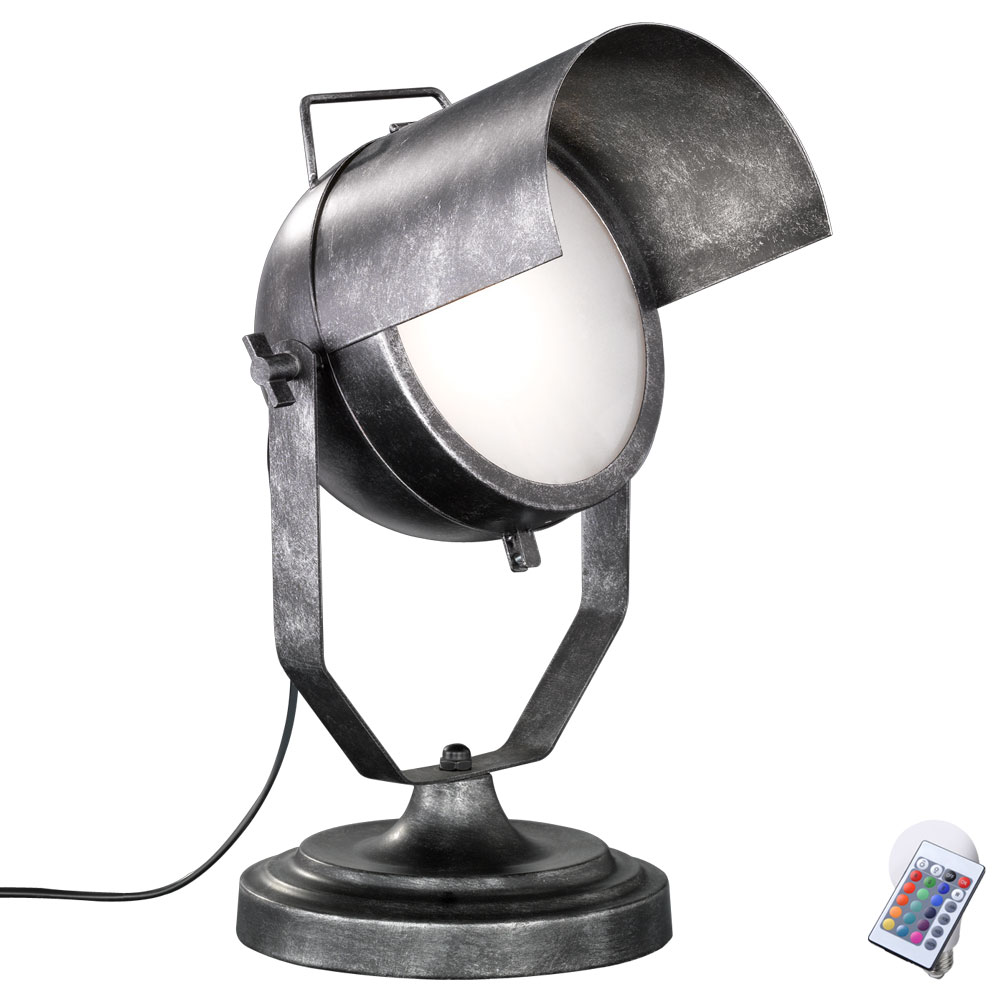metall rgb led tischleuchte mit beweglichem spot no 5 unsichtbar lampen m bel innenleuchten. Black Bedroom Furniture Sets. Home Design Ideas
