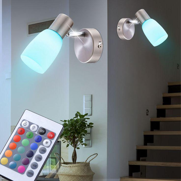 Set of 5 RGB LED wall lights with glass spots NEPTUN – Bild 4