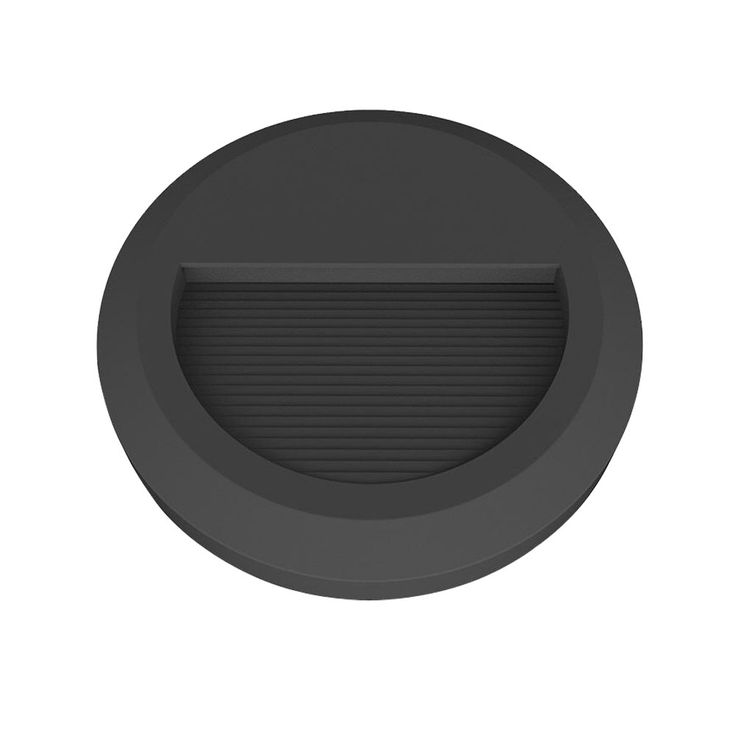 LED wall-mounted façade lamp steps lighting terrace balcony light round black EEK A V-TAC 1316 – Bild 1