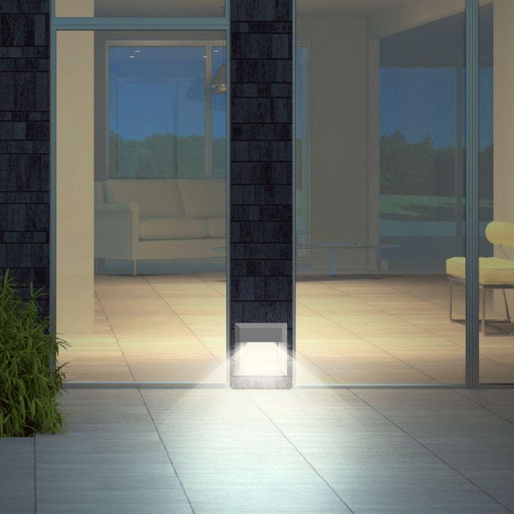 LED Wand Leuchte Fassaden Veranda Treppen Beleuchtung Strahler grau EEK A V-TAC 1324 – Bild 2