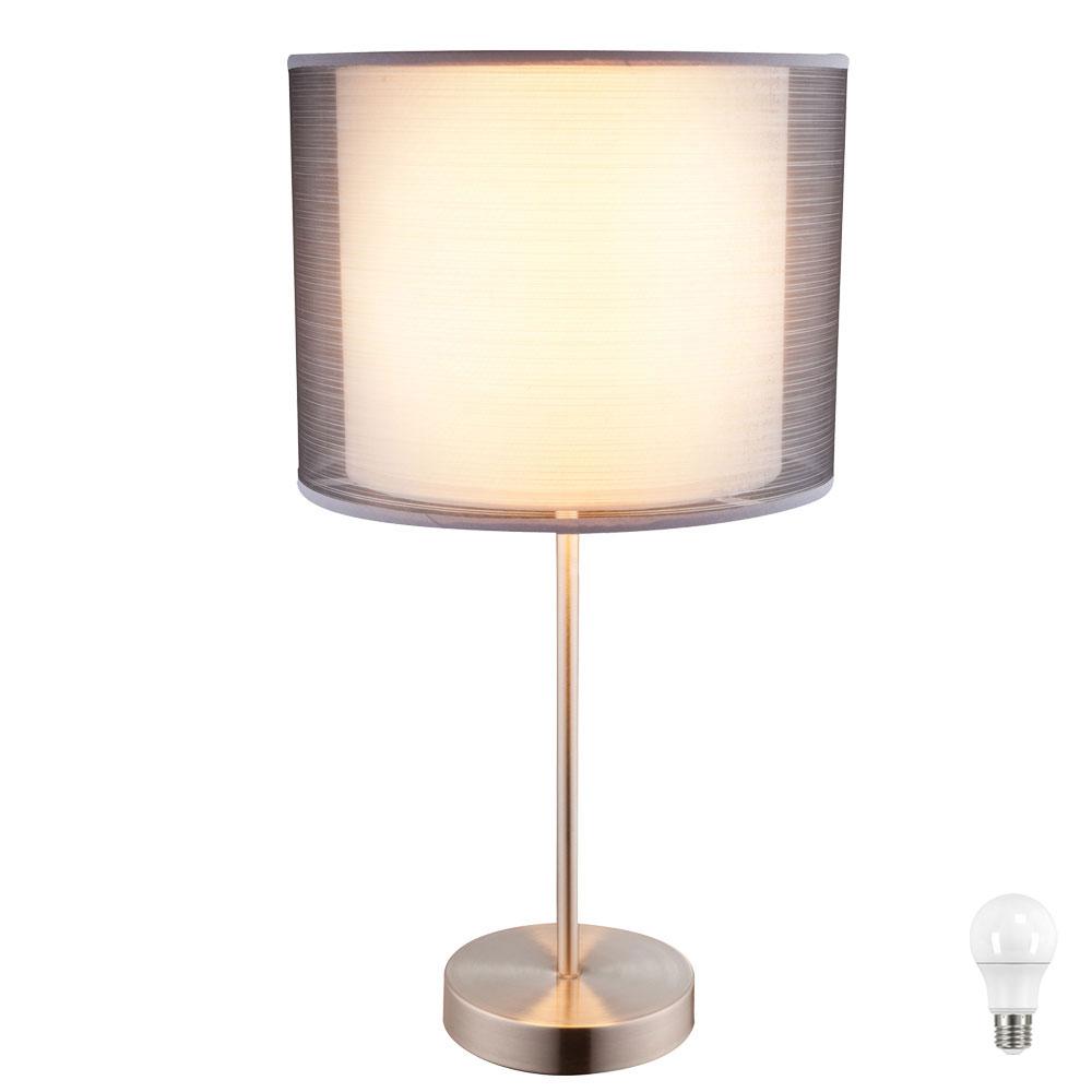 Hochwertige led tischleuchte mit textil lampenschirm theo for Hochwertige lampen