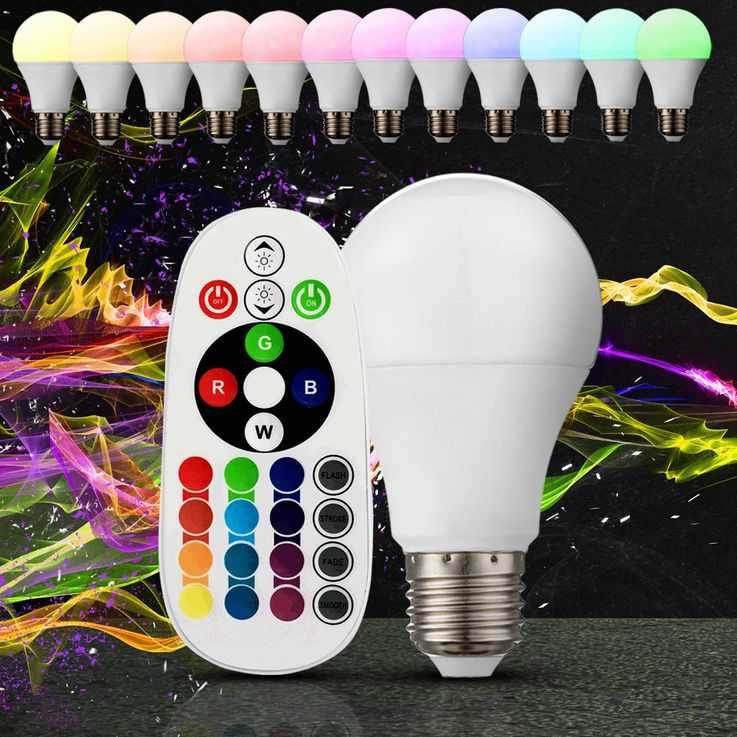 RGB LED 6 Watt Illuminant E27 Color Changing Lamp 470 Lumen 3000 K Remote Control V-Tac 7121 – Bild 2