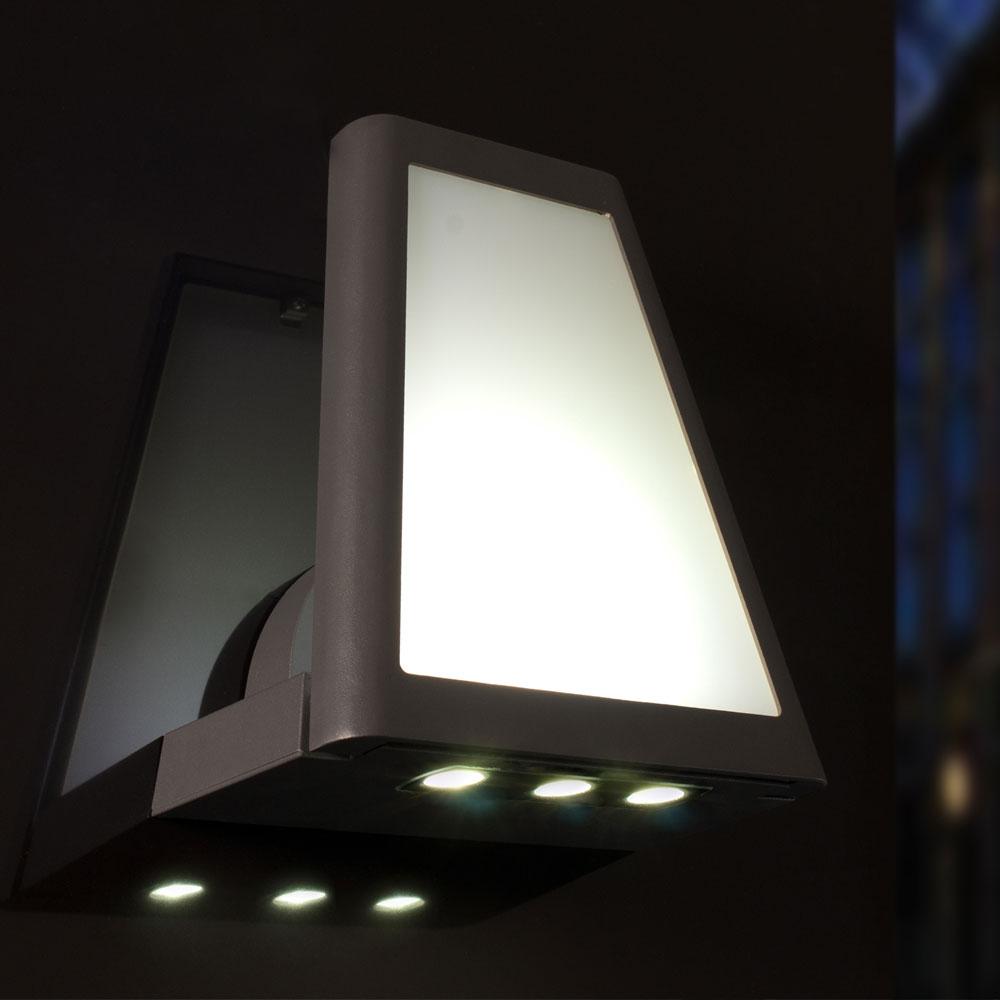led alu wand down strahler h he 25 cm lampen m bel au enleuchten wandbeleuchtung down strahler. Black Bedroom Furniture Sets. Home Design Ideas