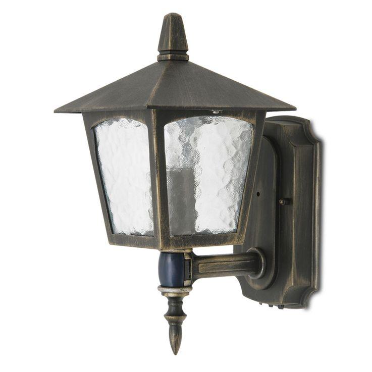 ALU Lampe d'extérieur Porte d'entrée Capteur de mouvement Lampe Porche Lanterne en verre or marron LUTEQ 1581-PIR_6C – Bild 1