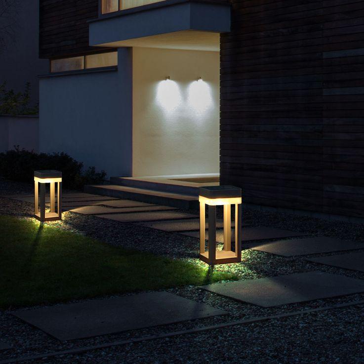 Lampada solare per esterni a LED Lampada a sfera a parete Illuminazione da toeletta per illuminazione da giardino Luteq P9080-450_SI – Bild 5