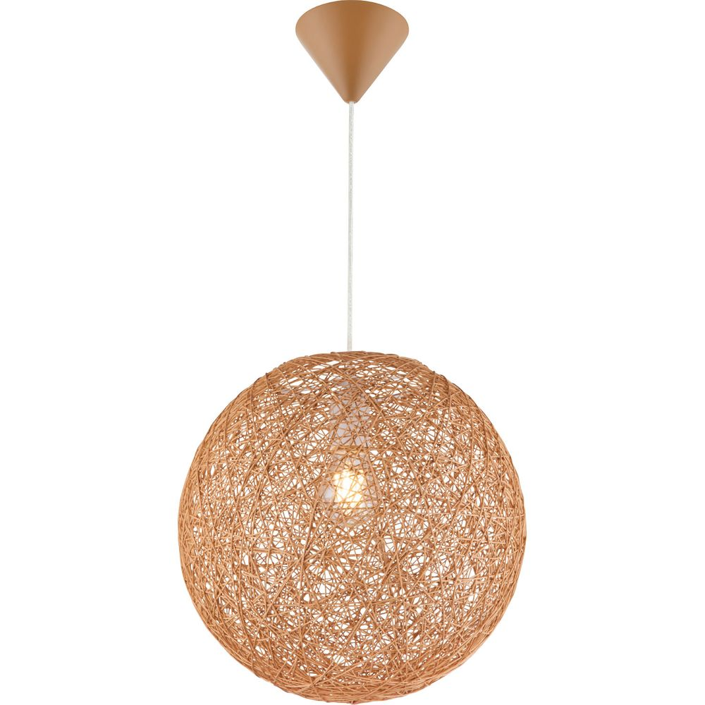 Lampe suspension design pour le salon en taupe marron COROPUNA