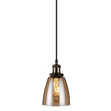 Lampe suspension vintage lampe suspension en verre Ambre lampe suspension V-Tac 3736 – Bild 1