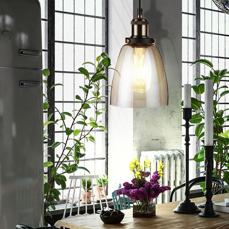 Vintage pendant lamp living room glass lighting Amber ceiling pendant lamp V-Tac 3736 – Bild 5