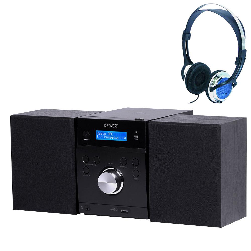 usb syst me musique lecteur cd enceintes st r o enceintes radio t l commande ebay. Black Bedroom Furniture Sets. Home Design Ideas