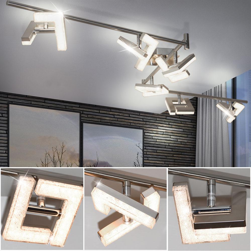 luxus kristall deckenstrahler mit led leuchtmittel emma lampen m bel r ume wohnzimmer. Black Bedroom Furniture Sets. Home Design Ideas